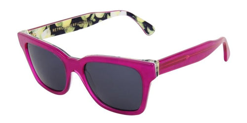 Retrosuperfuture America Pink / Blue Lens Sunglasses