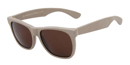 Retrosuperfuture Basic Shape Beige / Brown Lens Sunglasses