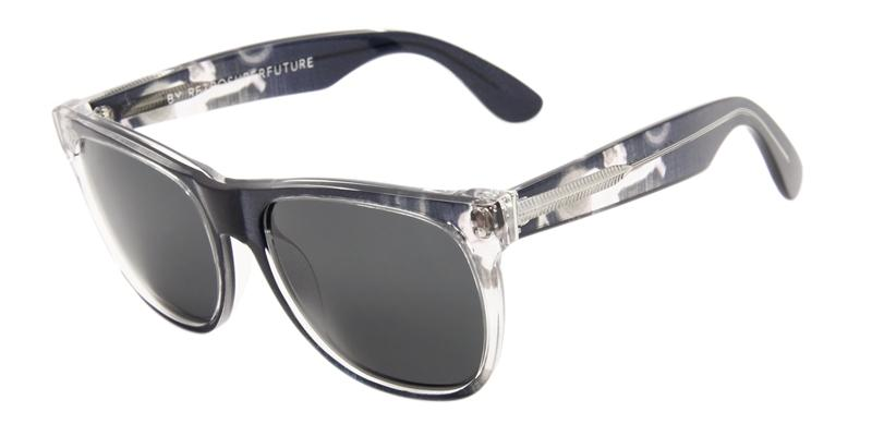 Retrosuperfuture Classic Black / Gray Lens Sunglasses