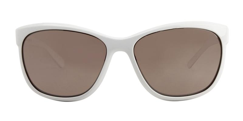 Nike Gaze White / Silver Lens Mirror Sunglasses