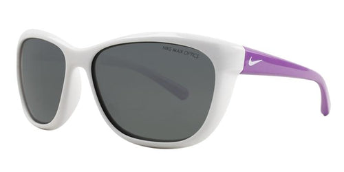 Nike Trophi White / Gray Lens Sunglasses