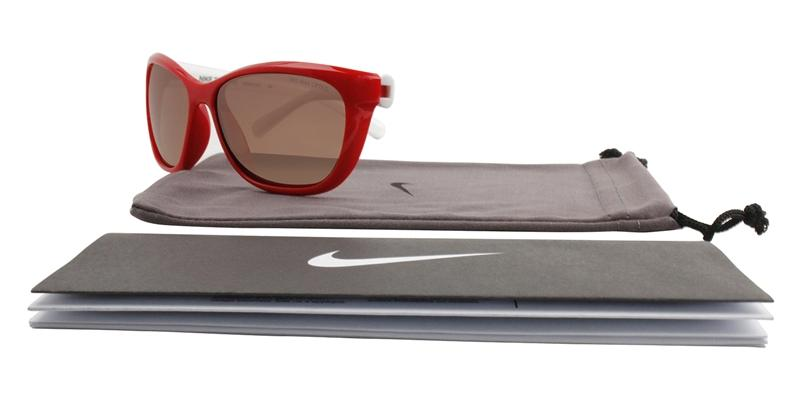 Nike - EV0820 Red Rectangular Women Sunglasses - mm