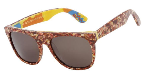 Retrosuperfuture Flat Top Red / Brown Lens Sunglasses