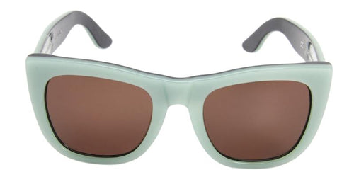 Retrosuperfuture Gals Green / Brown Lens Sunglasses
