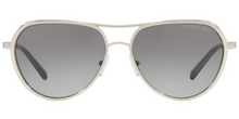 Michael Kors Madrid Silver / Gray Lens Sunglasses