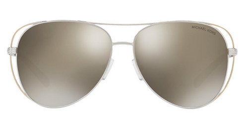 Michael Kors Lai Silver / Gold Lens Mirror Sunglasses