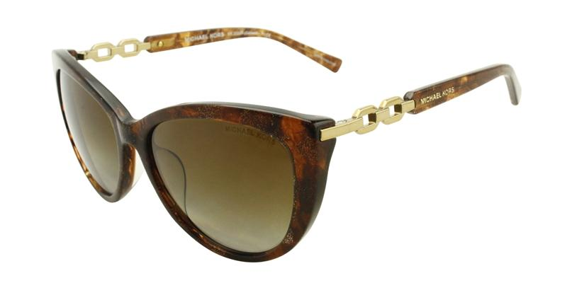 Michael Kors - Gstaad Brown Oval Women Sunglasses - 56mm