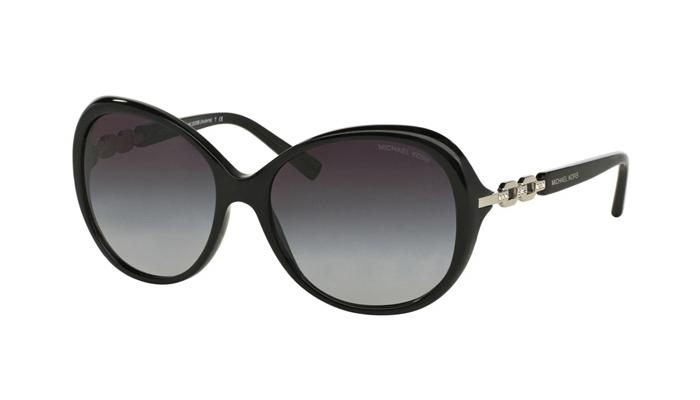 Michael Kors - Andorra Black Oval Women Sunglasses - 58mm