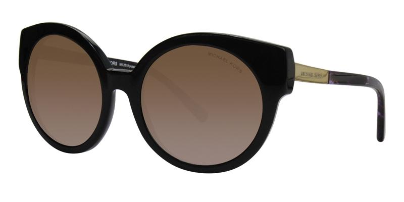 Michael Kors Adelaide I Black / Brown Lens Sunglasses