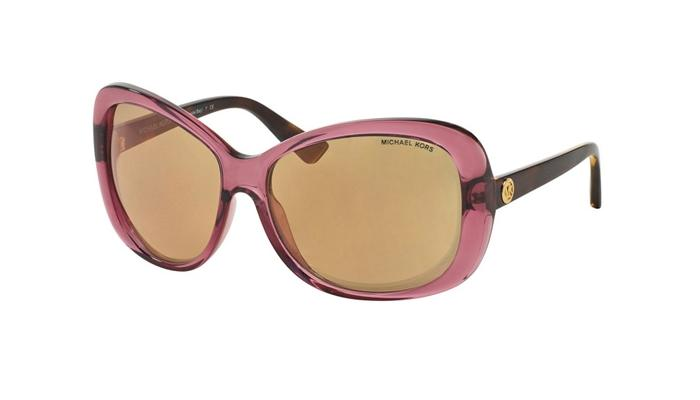 Michael Kors MK6018 3053R1 Rose Transparent Tortoise Sunglasses