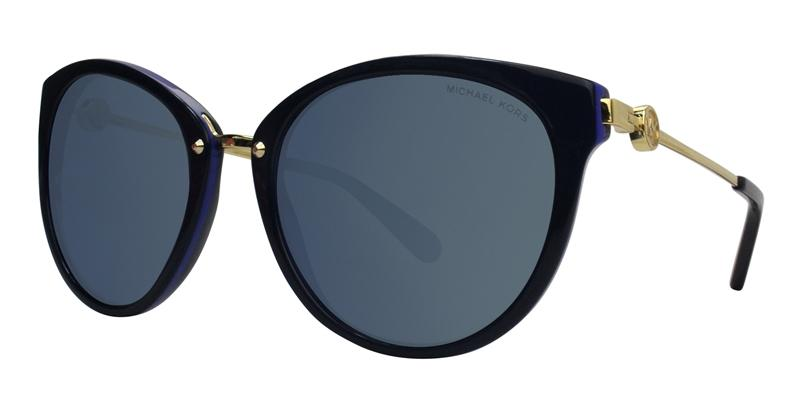 Michael Kors Abela III Blue / Gold Lens Mirror Sunglasses
