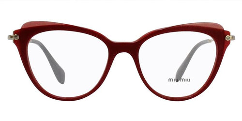 Miu Miu - MU01QV Red/Clear Oval Women Eyeglasses - 52mm