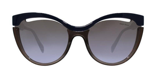 Miu Miu MU01TS Brown Blue / Brown Lens Sunglasses