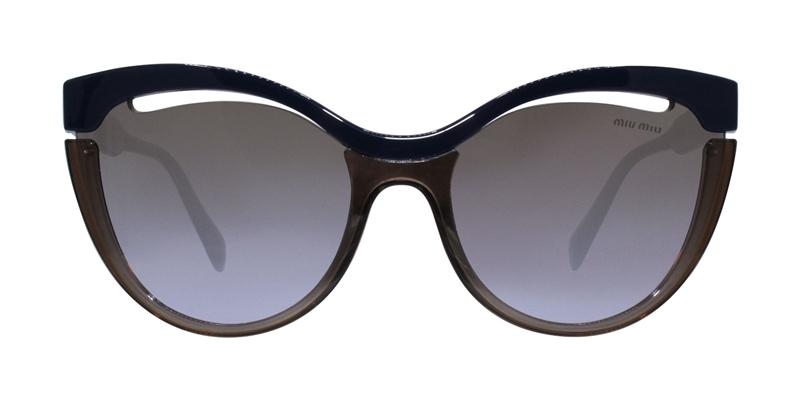 Miu Miu - MU01TS Brown Blue Oval Women Sunglasses - mm