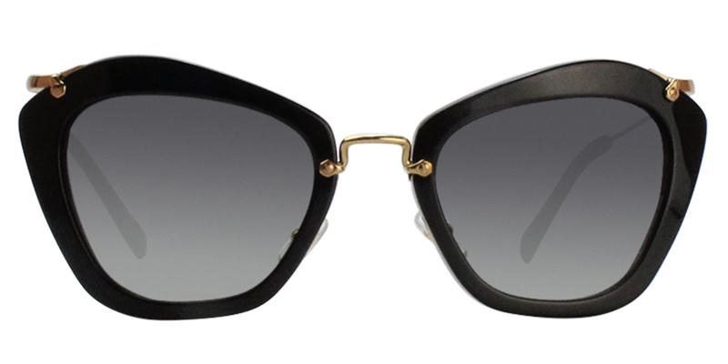 Miu Miu - MU10NS Black/Gray Gradient Cat Eye Women Sunglasses - 55mm