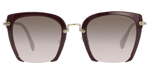 Miu Miu - MU52RS Black/Brown Gradient Rectangular Women Sunglasses - 52mm
