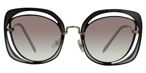 Miu Miu MU54SS Gold / Gray Lens Sunglasses