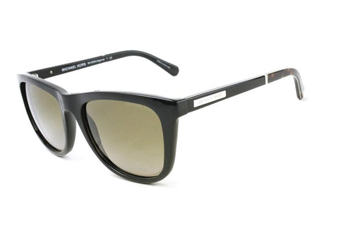 Michael Kors Women's Algarve Black / Brown Lens Sunglasses