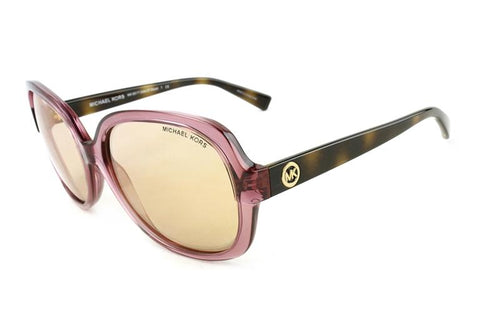 Michael Kors Women's Isle Of Skye Pink / Pink Mirror Lens Sunglasses