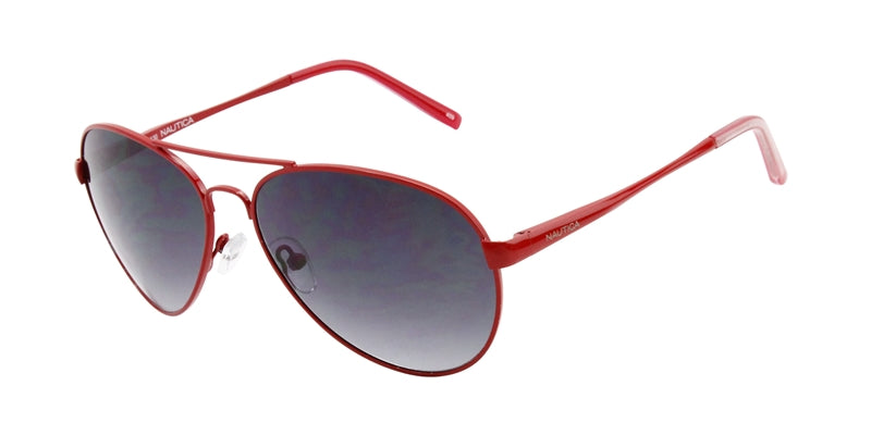 Nautica N4550S Red / Gray Lens Aviator Sunglasses