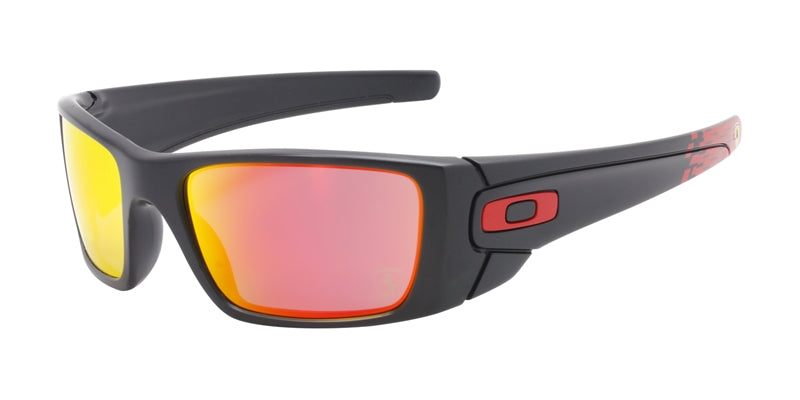 Oakley - Fuel Cell Black/Red Rectangular Men Sunglasses - 60mm