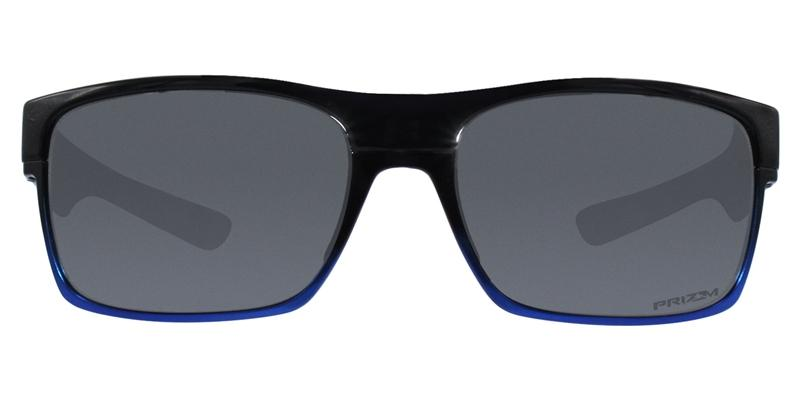Oakley - TwoFace Black Blue/Gray Rectangular Men Polarized Sunglasses - 60mm