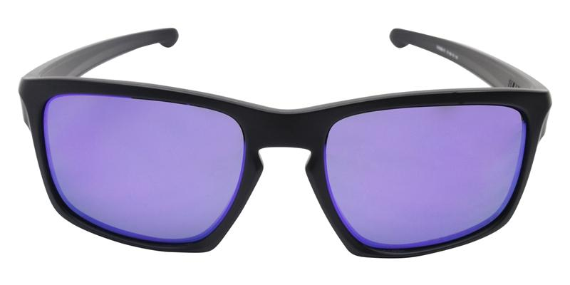 Oakley - Sliver Black/Purple Rectangular Men Polarized Sunglasses - 57mm