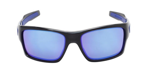 Oakley Men's Turbine Black / Blue Lens Sunglasses