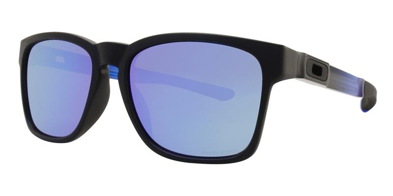 Oakley Catalyst Black / Blue Lens Mirror Sunglasses