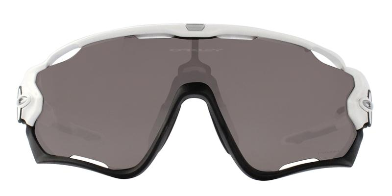 Oakley - Jawbreaker White Black/Gray Mirror Wrap Men Sunglasses - 31mm