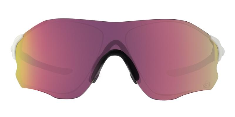 Oakley Evzero Path White / Purple Lens Mirror Sunglasses
