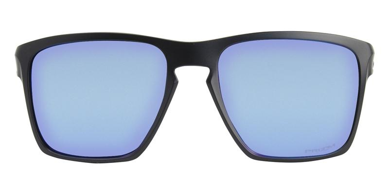 Oakley Sliver Black / Blue Lens Mirror Sunglasses