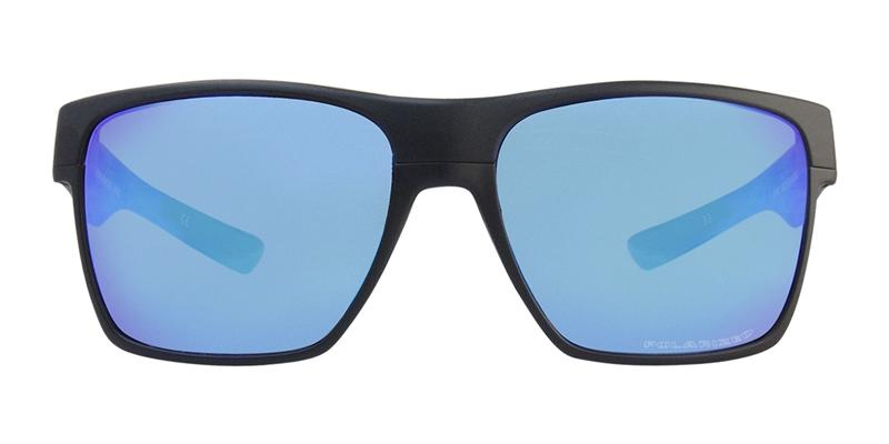Oakley TwoFace XL Black / Blue Lens Mirror Polarized Sunglasses