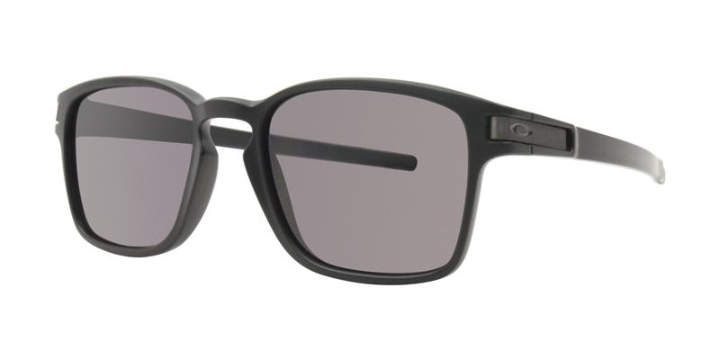 Oakley Latch Sq Black / Black Lens Sunglasses