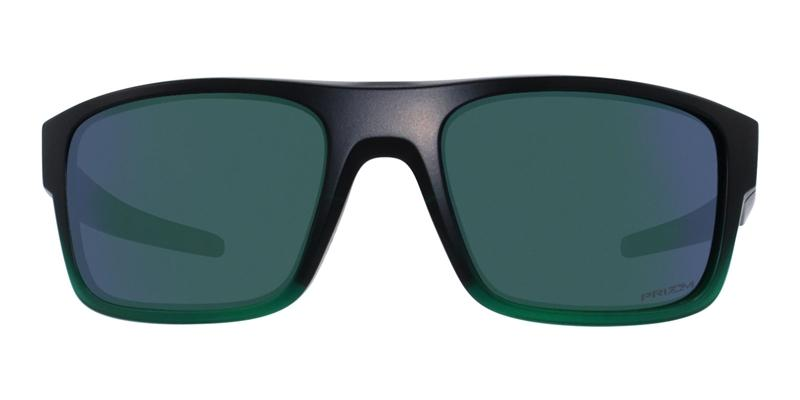 Oakley - Drop In Black/Green Rectangular Men Polarized Sunglasses - 61mm