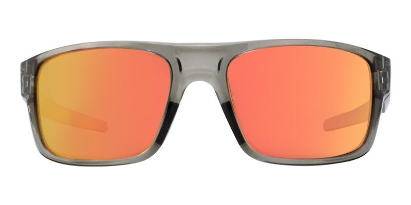 Oakley - Drop Point Gray/Red Rectangular Men Sunglasses - 61mm