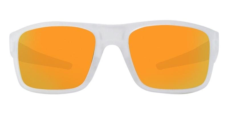 Oakley Drop Point Clear / Yellow Lens Mirror Sunglasses