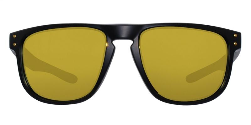 Oakley - Holbrook R Black/Yellow Rectangular Unisex Sunglasses - 55mm