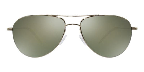 Oliver Peoples Benedict Gold / Green Lens Mirror Sunglasses