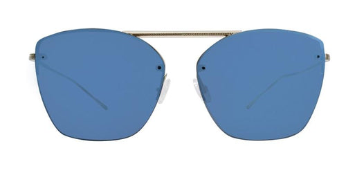 Oliver Peoples Ziane Gold / Blue Lens Mirror Sunglasses