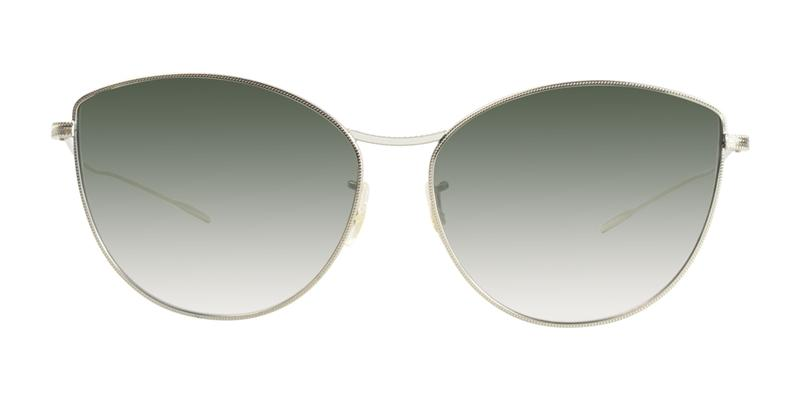Oliver Peoples Rayette Gold / Green Lens Sunglasses