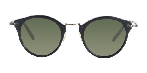 Oliver Peoples OP-505 Sun Black / Green Lens Sunglasses