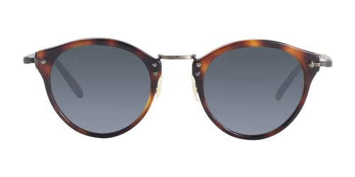 Oliver Peoples OP-505 Sun Tortoise / Blue Lens Sunglasses