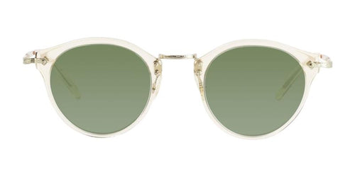 Oliver Peoples OP-505 Sun Gold / Green Lens Sunglasses