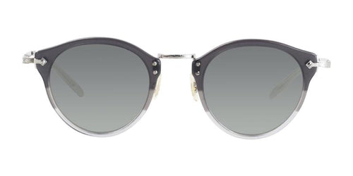 Oliver Peoples OP-505 Sun Gray Silver / Gray Lens Mirror Sunglasses