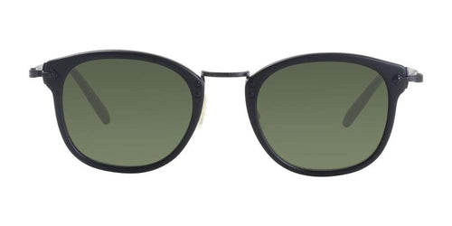 Oliver Peoples OP-506 Sun Black / Green Lens Sunglasses