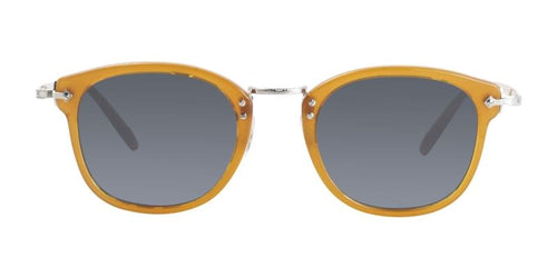 Oliver Peoples OP-506 Sun Brown / Blue Lens Sunglasses