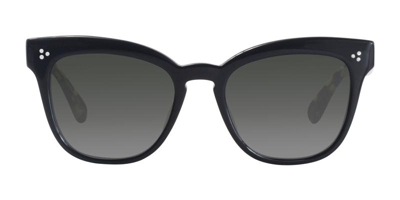 Oliver Peoples Marianela Black / Green Lens Sunglasses