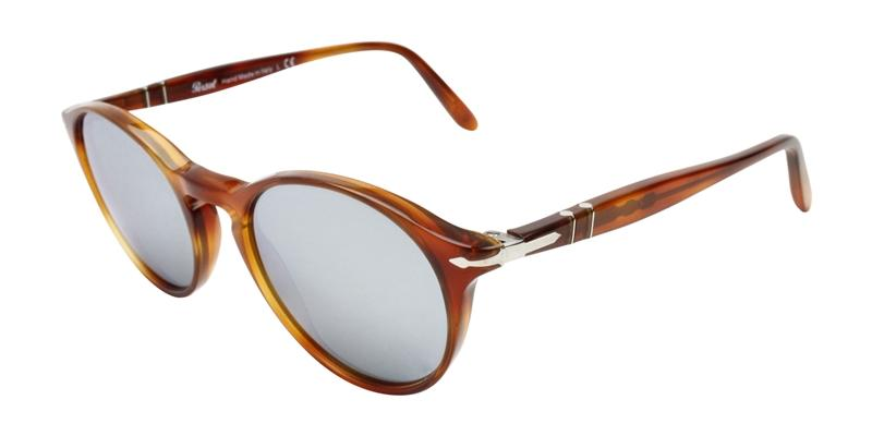 Persol Men's PO3092SM Brown / Blue Lens Sunglasses