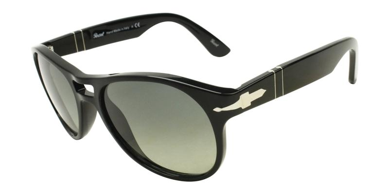 Persol Men's PO3155S Black / Green Lens Sunglasses